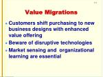 value migrations
