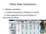 other state institutions