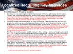 localized recruiting key messages
