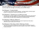recruiting key messages