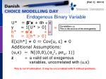 endogenous binary variable
