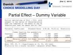 partial effect dummy variable