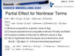 partial effect for nonlinear terms1