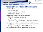 partial effects scaled coefficients