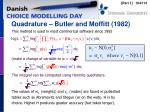 quadrature butler and moffitt 1982