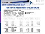 random effects model quadrature