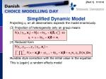 simplified dynamic model