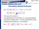 simulation based estimator