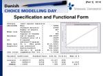specification and functional form