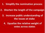 simplify the nomination process