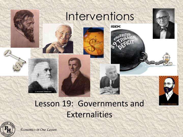 interventions n.
