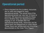 operational period