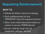 requesting reimbursement1