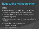 requesting reimbursement4