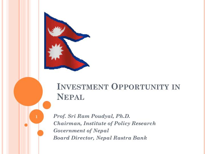 investment opportunity in nepal n.
