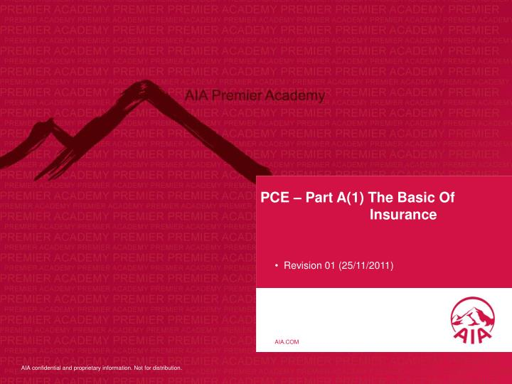 pce part a 1 the basic of insurance n.
