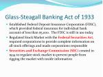glass steagall banking act of 1933