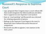 roosevelt s response to supreme court