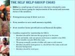 the self help group sgh