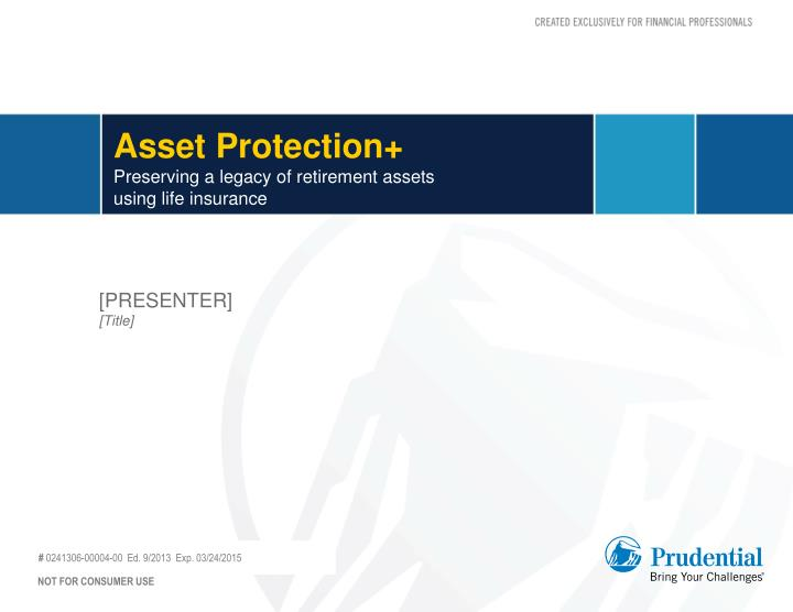 asset protection preserving a legacy of retirement assets using life insurance n.