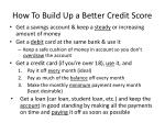 how to build up a better credit score