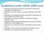 guidelines under osha 1994 cont1