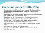 guidelines under osha 19941