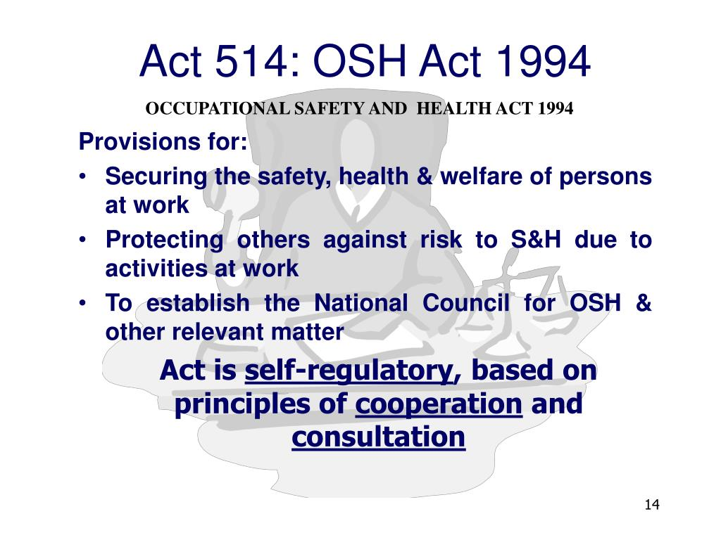Ppt Legal Requirements Of Occupational Safety And Health Powerpoint Presentation Id 1672982