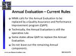 annual evaluation current rules