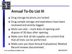 annual to do list iii