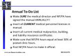 annual to do list