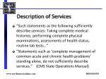 description of services