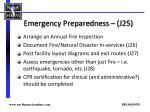emergency preparedness j25