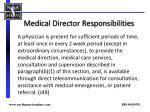 medical director responsibilities