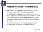 medical records content j70