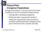 physical plant emergency preparedness