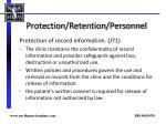 protection retention personnel