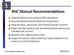 rhc manual recommendations1