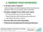 2 manage your household