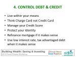 4 control debt credit