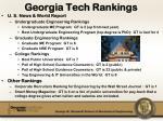 georgia tech rankings