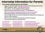 internship information for parents1