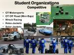 student organizations competitive