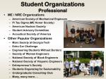 student organizations professional