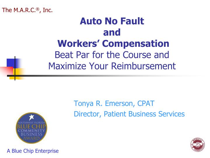 auto no fault and workers compensation beat par for the course and maximize your reimbursement n.