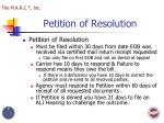 petition of resolution
