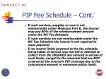 pip fee schedule cont2