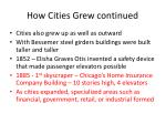 how cities grew continued