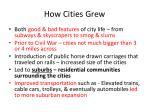 how cities grew