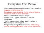 immigration from mexico